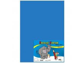 Kreslící karton A2 180g 10 ks - modrý světle