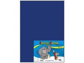 Kreslící karton A2 180g 10 ks - modrý tmavě