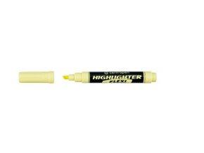 Centropen pastelový zvýrazňovač Flexi - žlutý