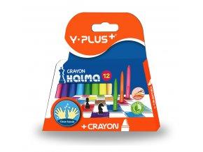 Y-PLUS Halma voskovky 12 barev Clean Hands