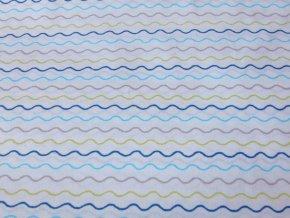 Plátno Vlnky modrozelené