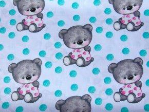 Plátno Medvídek s puntíky