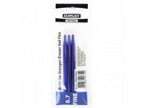 Náplně pro gelové mazací pero Stanger Eraser 0,7mm modré 3ks
