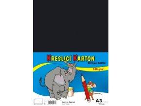 Kreslící karton A3 180 g - černý