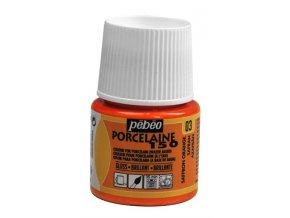 Barva na porcelán a sklo Porcelaine 150 45 ml - oranžová 03