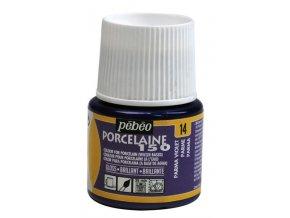 Barva na porcelán a sklo Porcelaine 150 45 ml - fialová parma 14