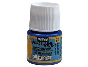 Barva na porcelán a sklo Porcelaine 150 45 ml - modrá opálová 23