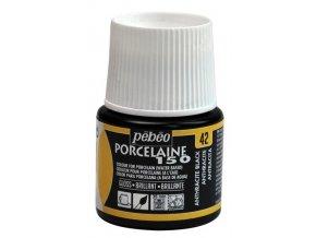 Barva na porcelán a sklo Porcelaine 150 45 ml - černá 42