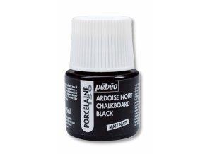 Porcelaine150 černá tabulová barva na porcelán a sklo 45 ml