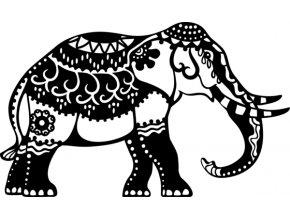 Šablona Marabu pro Fashion sprej 21x30cm- Slon
