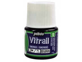 Barva na sklo Pébéo Vitrail - 10 modrá tmavě