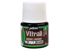 Barva na sklo Pébéo Vitrail - 11 hnědá