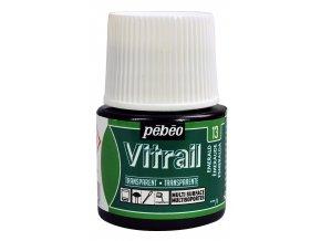 Barva na sklo Pébéo Vitrail - 13 zelená smaragdová