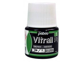Barva na sklo Pébéo Vitrail - 15 černá