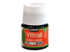 Barva na sklo Pébéo Vitrail - 16 oranžová