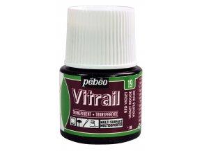 Barva na sklo Pébéo Vitrail - 19 červeno fialová