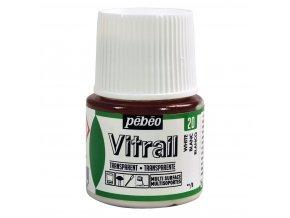 Barva na sklo Pébéo Vitrail - 20 bílá