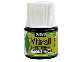 Barva na sklo Pébéo Vitrail - 22 žlutozelená