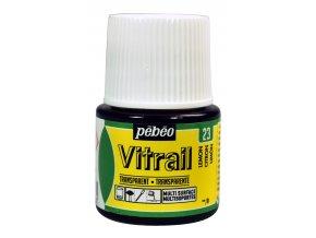 Barva na sklo Pébéo Vitrail - 23 žlutá citron
