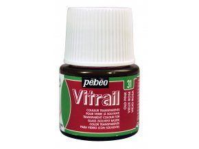 Barva na sklo Pébéo Vitrail - 31 starorůžová