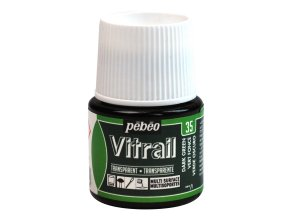 Barva na sklo Pébéo Vitrail - 35 zelená tmavá