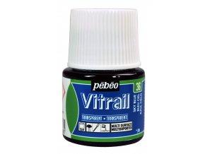 Barva na sklo Pébéo Vitrail - 36 modrá světlá