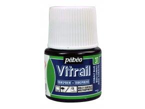 Barva na sklo Pébéo Vitrail - 37 modrá kobalt
