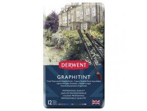 Barevné grafitové tužky Derwent Graphitint 12 ks