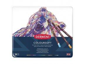Umělecké pastelky Coloursoft extra syté barvy 24 barev