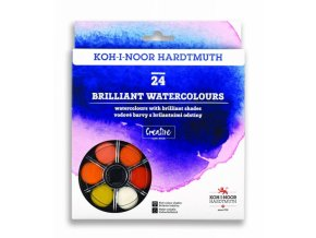 Koh-i-Noor brilantní vodové barvy - 24 barev