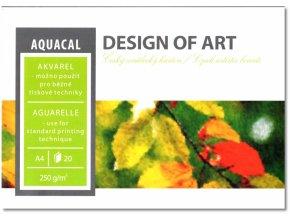 Akvarelový blok AQUACAL A4 lepený 250g/m2 20 listů