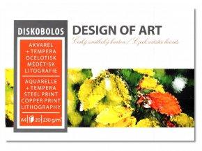 Akvarelový blok DISKOBOLOS A5 230g, 20 listů