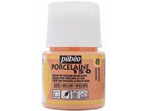Barva na porcelán a sklo Porcelaine 150 45 ml - oranžová mango 49
