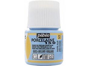 Barva na porcelán a sklo Porcelaine 150 45 ml - modrá pastelová 51