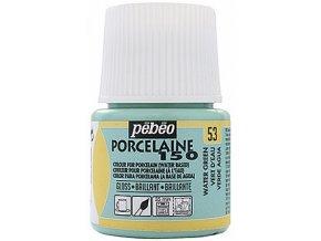 Barva na porcelán a sklo Porcelaine 150 45 ml - zelená voda 53