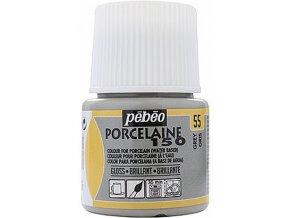 Barva na porcelán a sklo Porcelaine 150 45 ml - šedá 55