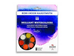 Anilinky Koh-i-Noor brilantní vodové barvy - 48 barev