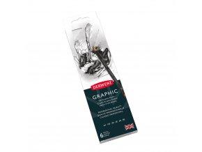 DERWENT Graphic, grafitové tužky 6 k 2H - 8B