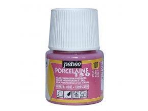 Barva na porcelán a sklo Porcelaine 150 45 ml - růžová metalická 107