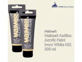 Akrylová barva Maimeri Acrilico 200 ml - slonová kost 021