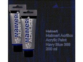 Akrylová barva Maimeri Acrilico 200 ml - modrá Marina 388