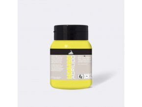 Akrylová barva Maimeri Acrilico 500 ml - žlutá citrón permanentní 112