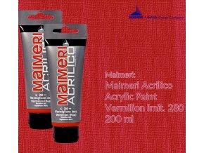 Akrylová barva Maimeri Acrilico 200 ml - červeň rumělka imitace 280