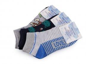 Chlapecké bavlněné ponožky kotníkové