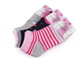 Dívčí bavlněné ponožky kotníkové, jednorožec
