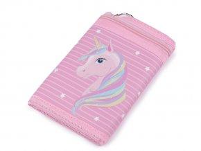 Dívčí látková peněženka s řetízkem 9x13 cm