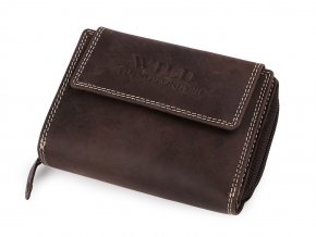 Peněženka kožená 9,5x13 cm