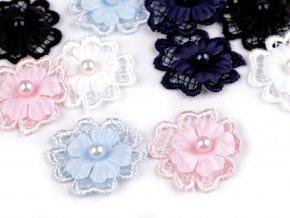 Květ 3D s perlou Ø30 mm