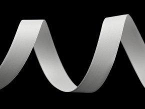 Atlasová hedvábná stuha oboulící šíře 15 mm matná