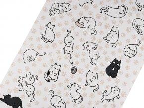 Bavlněné vaflové piké kočky